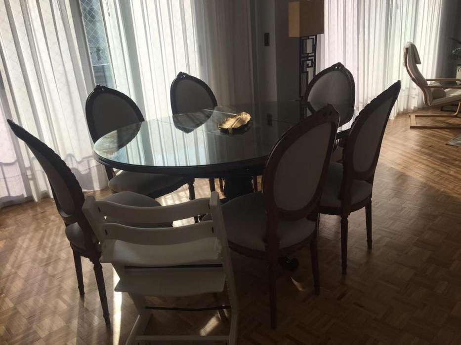 Mesa de Comedor Negra Redonda - Excelente Calidad