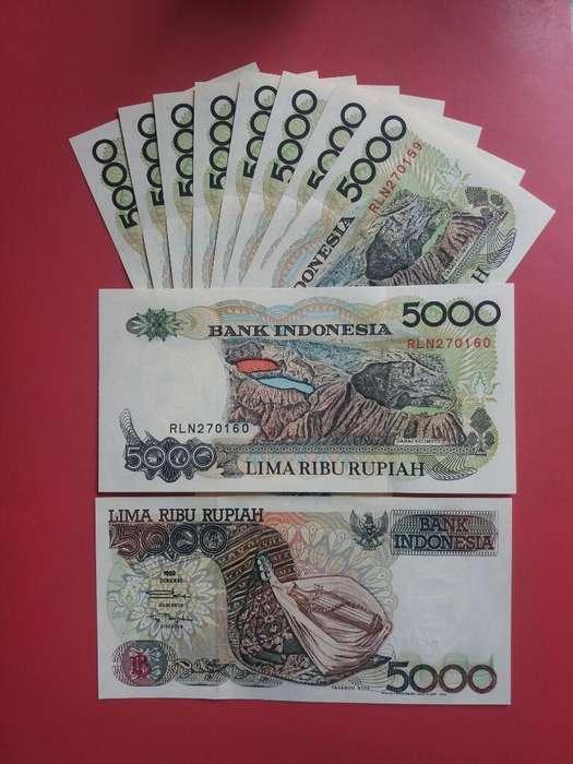 Billete de Indonesia de 5.000 Rupias