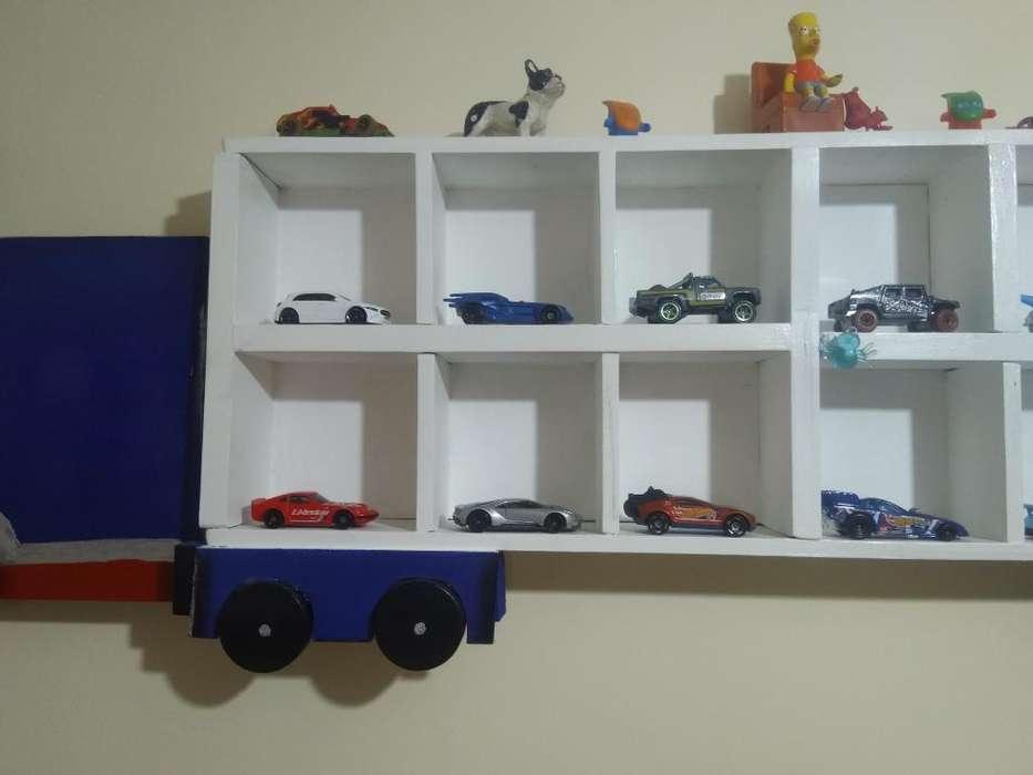 Camion de Madera Decorativo de Autos