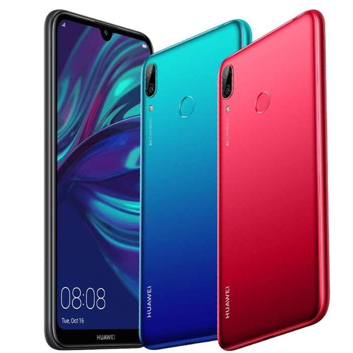 HUAWEI Y7 2019 L/FÁB. FULL HD 32GB 3GB 4000MAH SELLADO OBSEQUIO SOMOS NABYS SHOP PERÚ