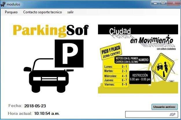 Software para parquederos , Programa para parqueadero