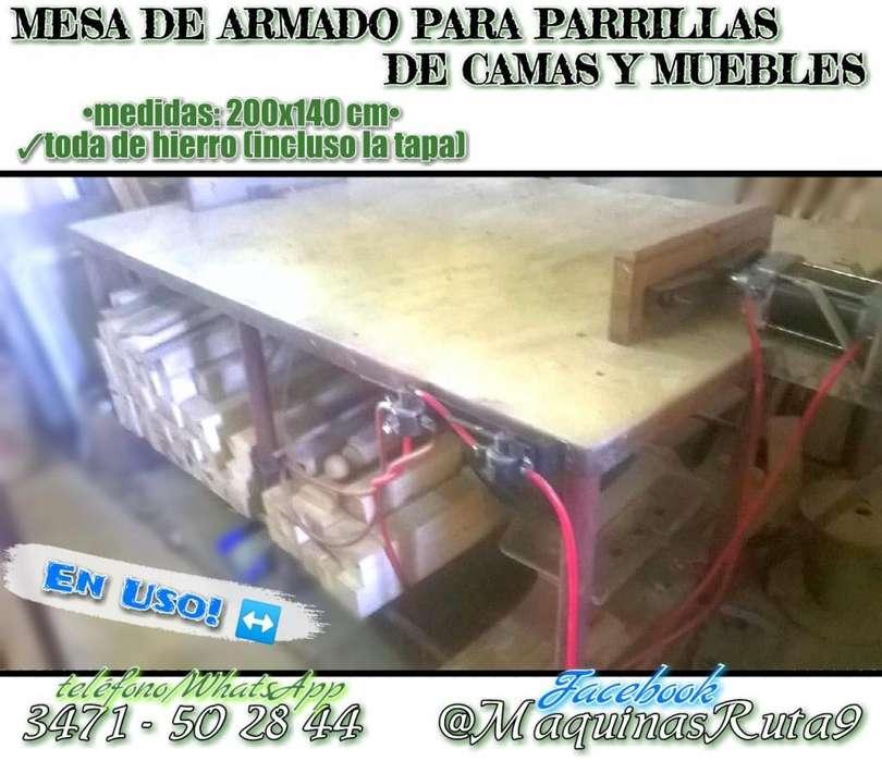 MESA DE ARMADO PARA PARRILLAS DE CAMA Y MUEBLES ø máquinas de carpintería ø fábrica de muebles ø