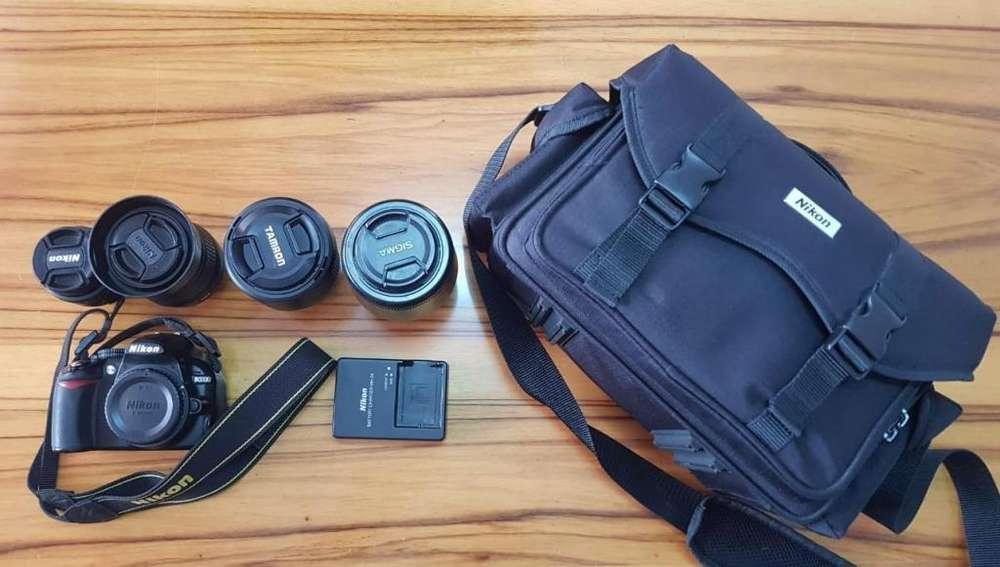 Cámara Nikon D3100 y mas lentesCámara Nikon D3100