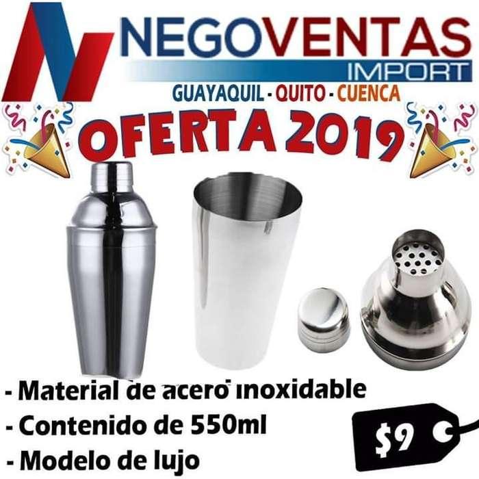 VASO COCTELERO MEZCLADOR ACERO INOXIDABLE OFERTA 9