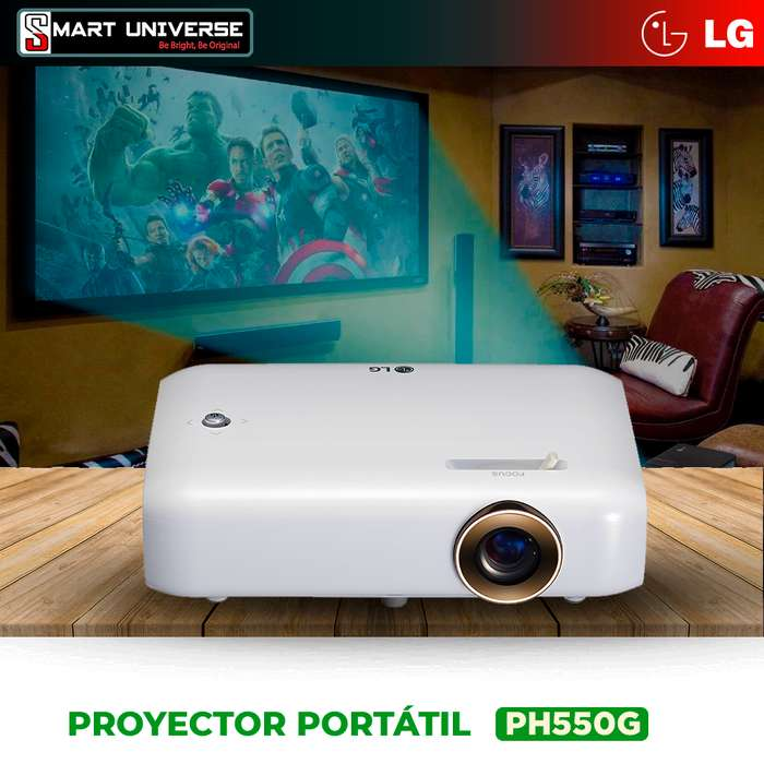 Proyector Portatil Lg 550 Lum Led Hdmi Bluetooth Usb 100 Pulgadas Bateria Integrada