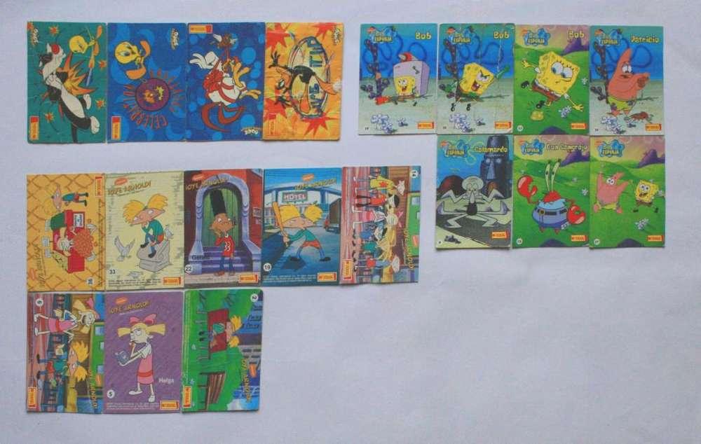 Lote Tarjetas Rugrats Bob Esponja Hey Arnold Mcdougal Cards