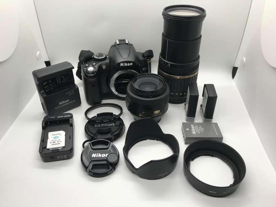 Camara Profesional Nikon D5000 Con Lentes 18200 y 35mm F1.8