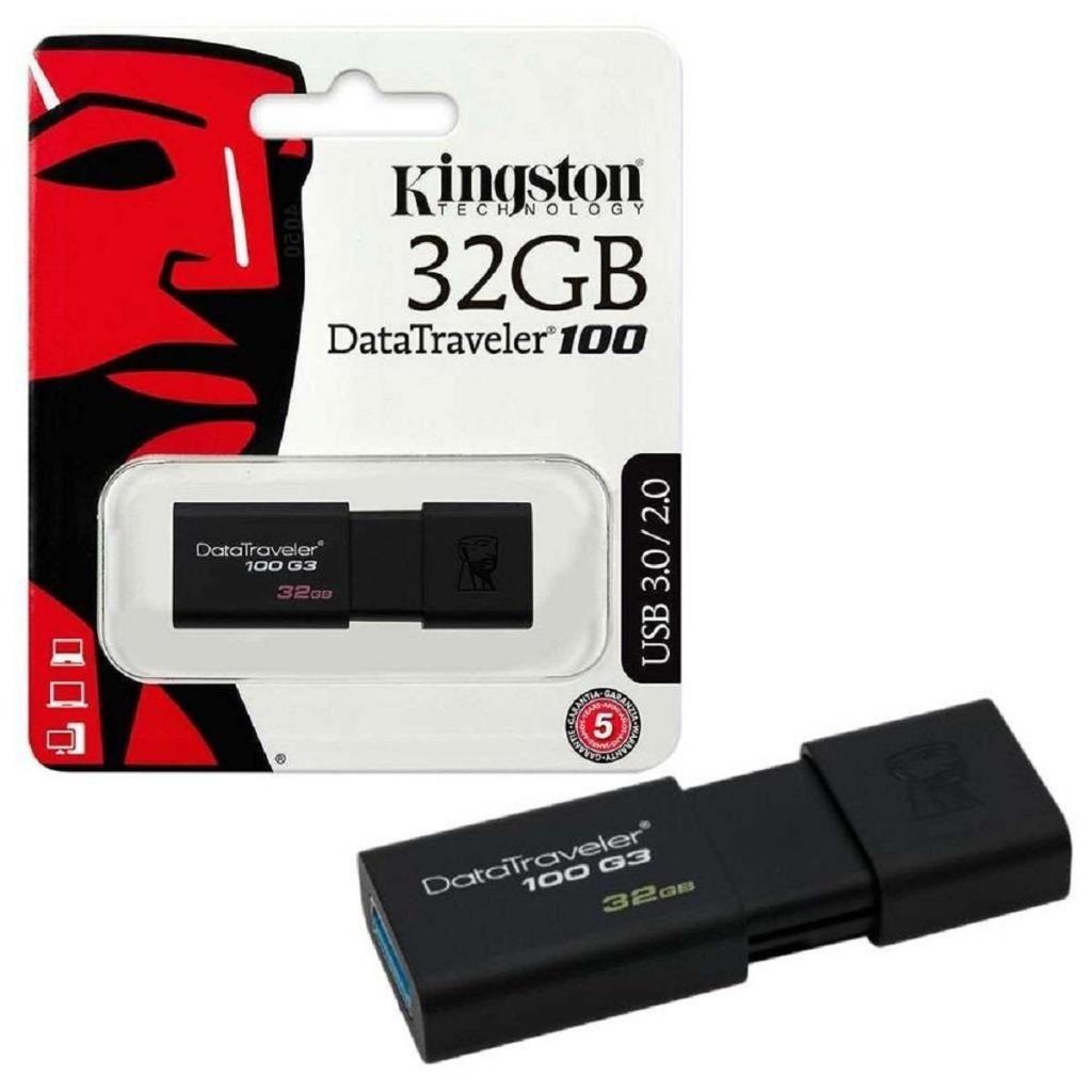MEMORIA USB 32GB DATATRAVELER 100 - USB 3.0 / 2.0 - KINGSTON