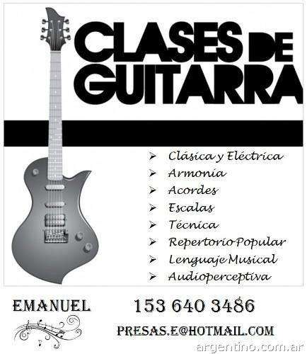 CLASES DE GUITARRA EN ZONA SUR!!! QUILMES BERNAL