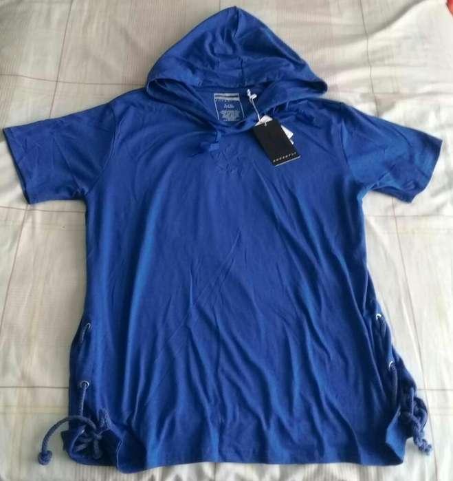 Camiseta Capucha Americana Moda L Nueva