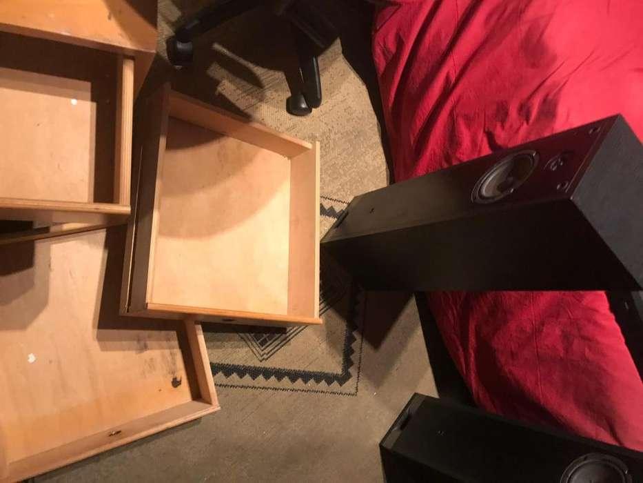 dos <strong>muebles</strong> ideal para dormitorio o biblioteca muy buen estado
