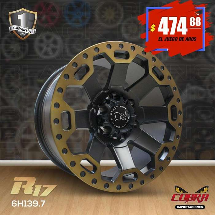 Aro Rin 17 JUEGO* Camionetas Luv Dmax Toyota Hilux Mazda Bt50
