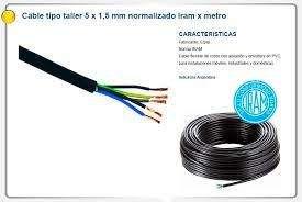 CABLE TIPO TALLER 5X1,5MM 49 / ROLLO CABLE UNIPOLAR 560 / MATEARIALES ELECTRICOS / ENVIOS LA PLATA S/C