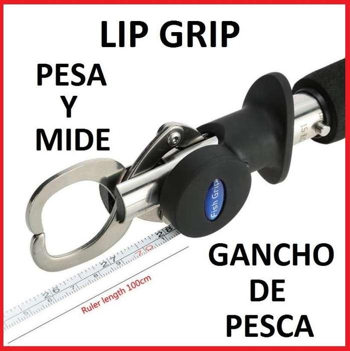 Lip Grip Romana Y Metro Gancho De Pesca Pesa Y Mide Señuelo