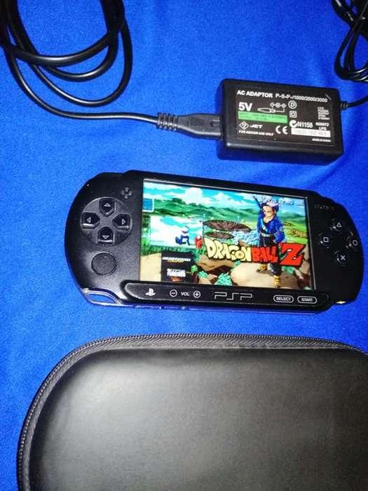 VENDO HERMOSA PSP 1004E SUPER COMPLETA 21 JUEGOS ESTUCHE WPP 3186789599