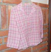 Camisa Mujer Cuadrille Mangas 3/4 Corta Y Entallada Talle S