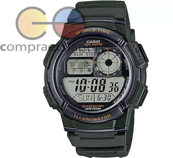 CASIO AE 1000W Reloj Hombre Cronometro 5 Alarmas Originales