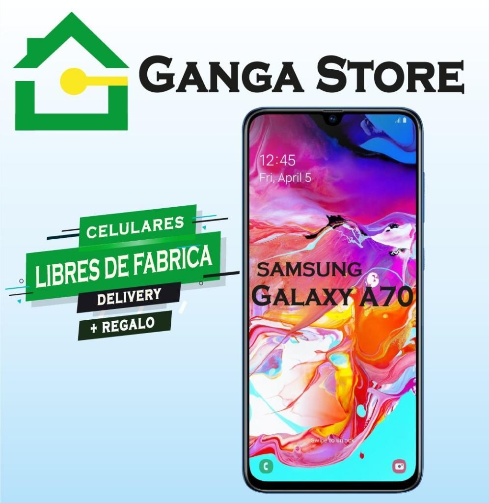 Samsung A70  Cámara Triple (32mp8mp5mp)