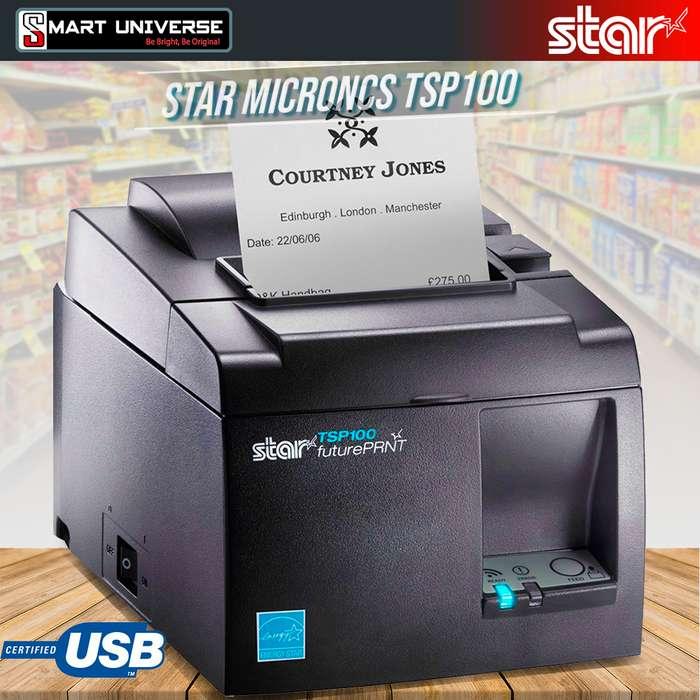 Impresora Térmica POS Star Microncs Tsp100eco Negra Usb