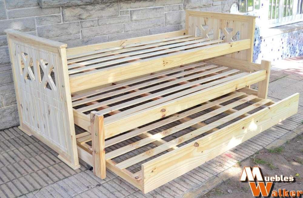 <strong>camas</strong> nido triples de 1 plaza