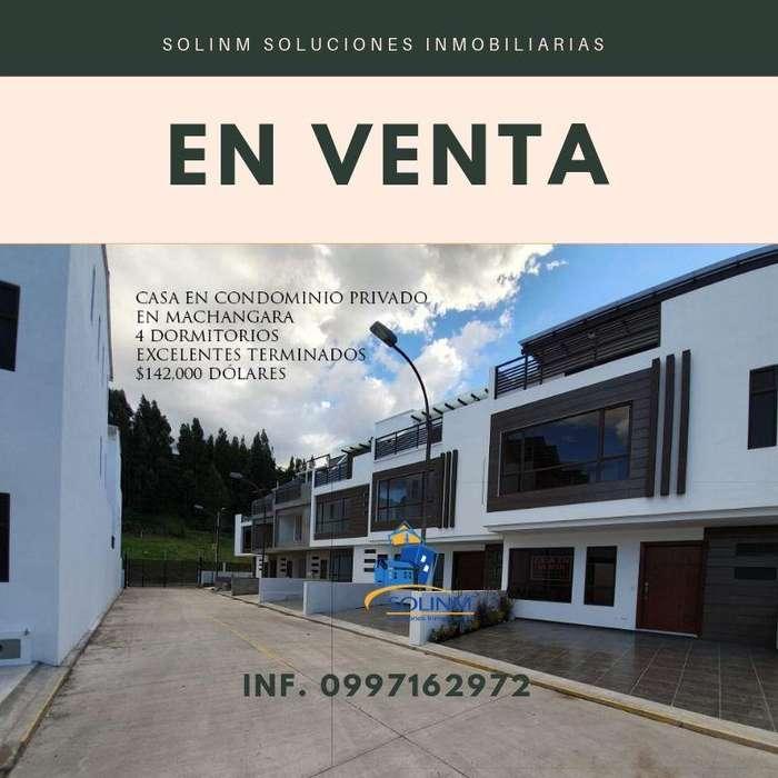 SOLINM: EN CONDOMINIO PRIVADO, CASA POR ESTRENAR, SECTOR MACHANGARA