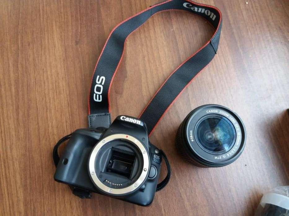 Cámara Canon Eos 100D lente Canon 18 - 55 Flash Speedlite Rt - ll