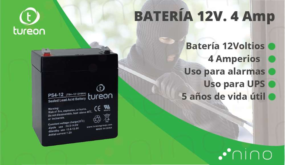 <strong>bateria</strong> 12V 4Amperios