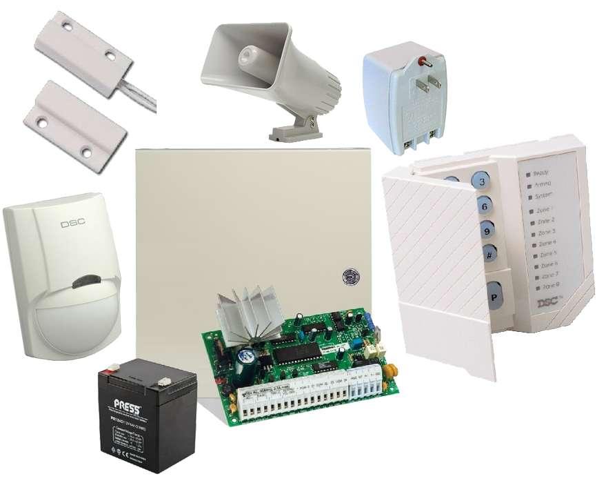 Venta e instalacion de sistemas de alarma antirobo y contraintrusion marca DSC con garantia de 2 años