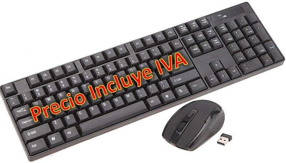 Teclado Mouse Inalámbrico One Slim Wireless PRECIO INCLUYE IVA
