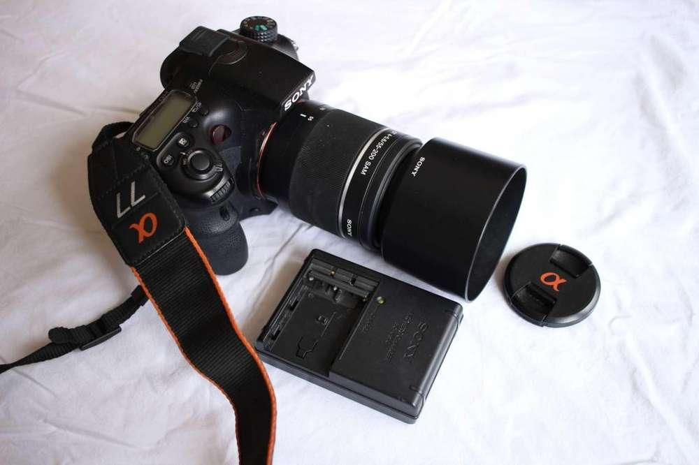 SONY A77 LENTE 55200 flamante mas 2 <strong>bateria</strong>s, foto real