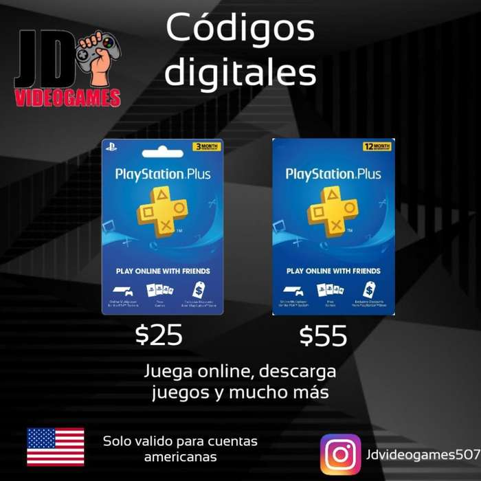Códigos Digitales Ps4 Plus Y Psn
