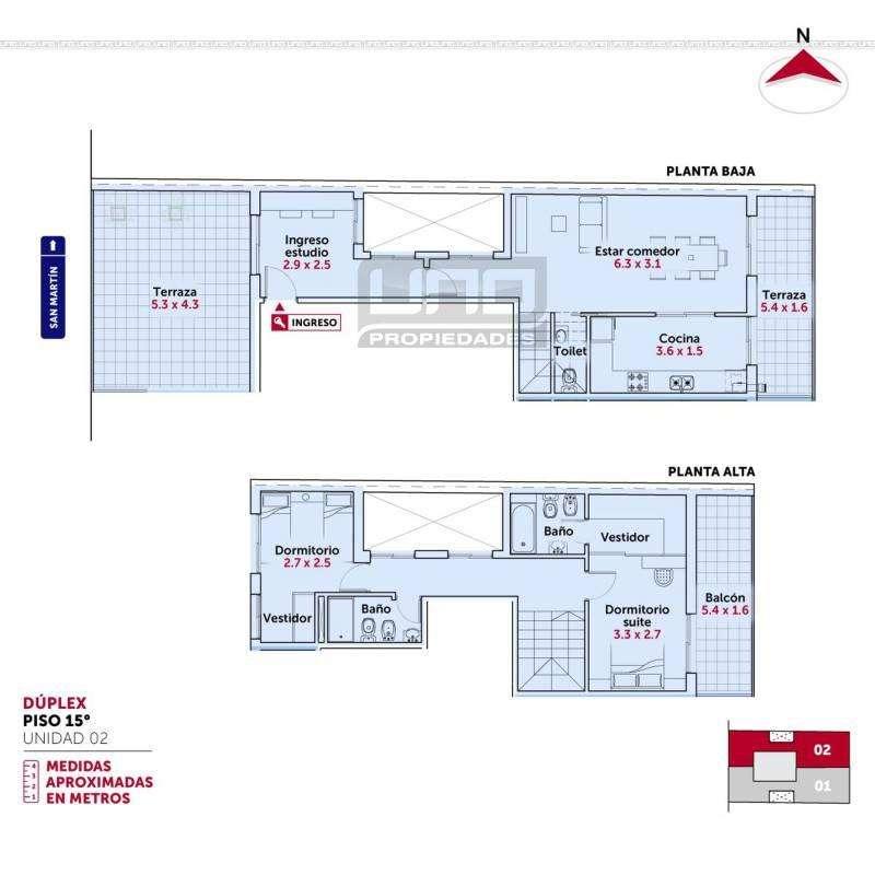 San Martín y Tucumán - Amplio Dpto de 2 Dormitorios Externo con Vista al Río. Posibilidad cochera. Vende Uno Propie