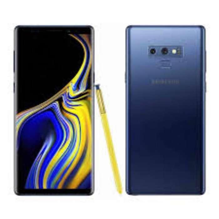 Note 9 , Azul 128gb ,caja Y Accesorios