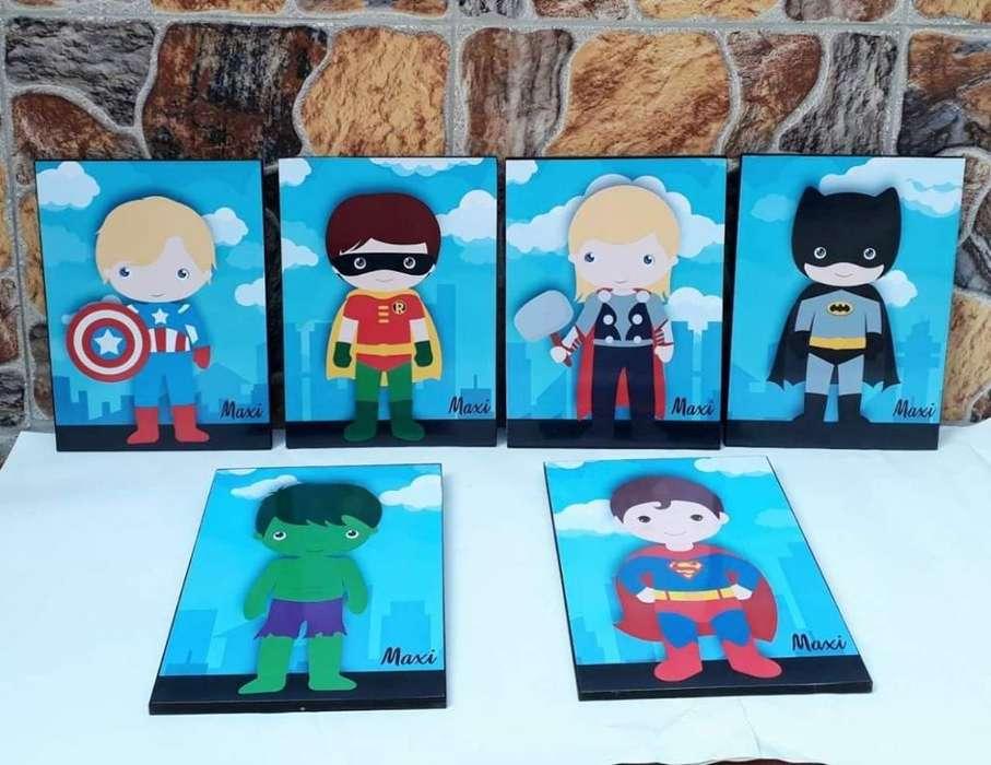 Cuadros para Bebé Superhéroes