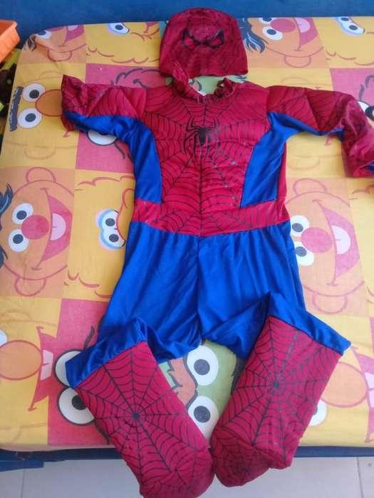 Disfraz de spiderman talla 8