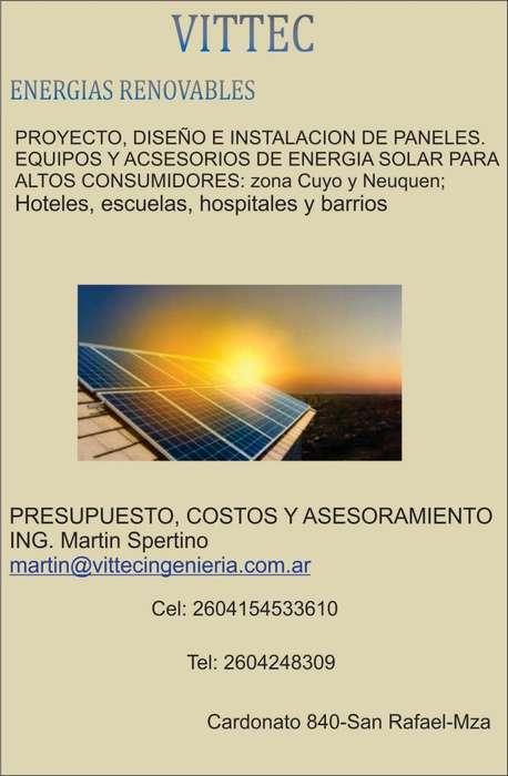 INSTALACIÓN PANELES DE ENERGÍA SOLAR-ALTOS CONSUMOS