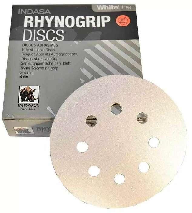 Disco Lija Rhynogrip White G120 X 125Mm X Caja 50
