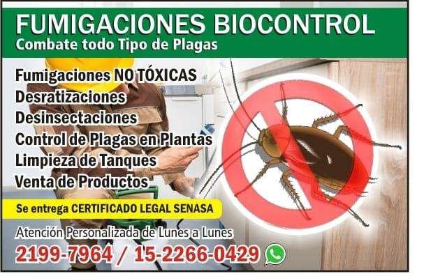fumigaciones en zona sur sin toxicos con garantia 21997964