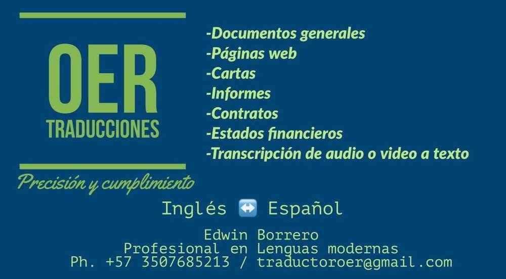 Traducción de documentos.