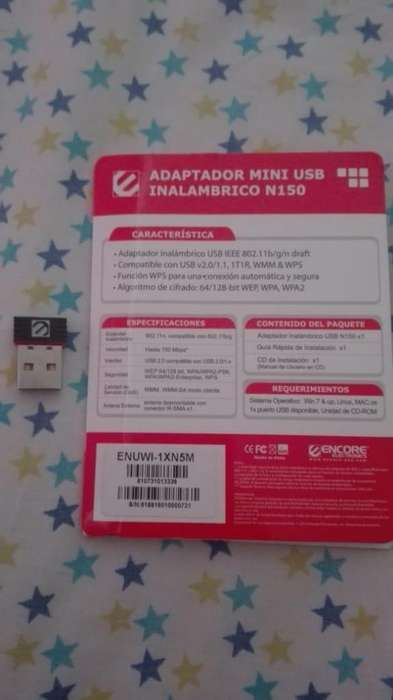 Adaptador Wifi USB N150