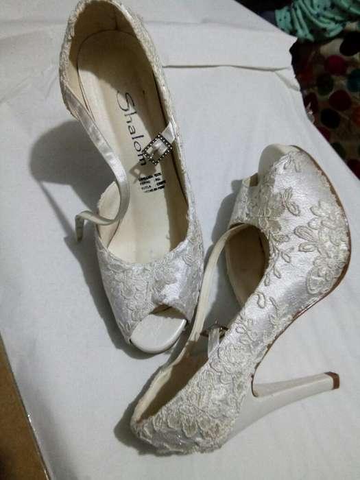 Zapatos Encaje Novia