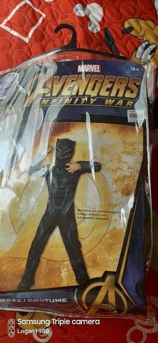 Disfraz Pantera Negra T. 6