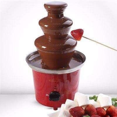 Fuente de chocolate de 3 niveles en acero inoxidable NUEVA