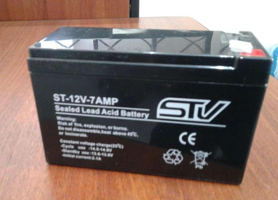 Bateria Recargable 12V 7A UPS Cercos Alarmas