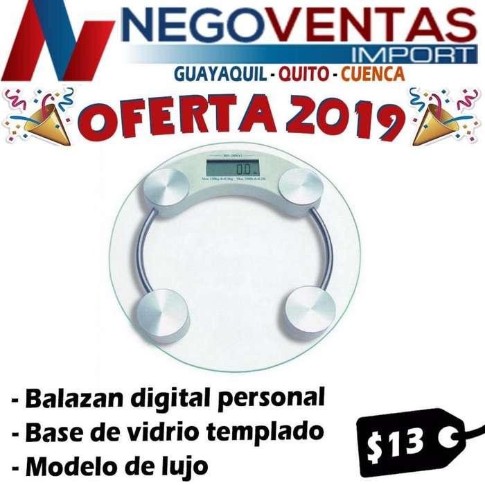 BALANZA DE VIDRIO CON PANTALLA DIGITAL PERSONAL
