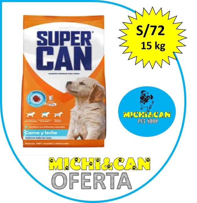 Super Can Cachorro 15kg con trozos blandos