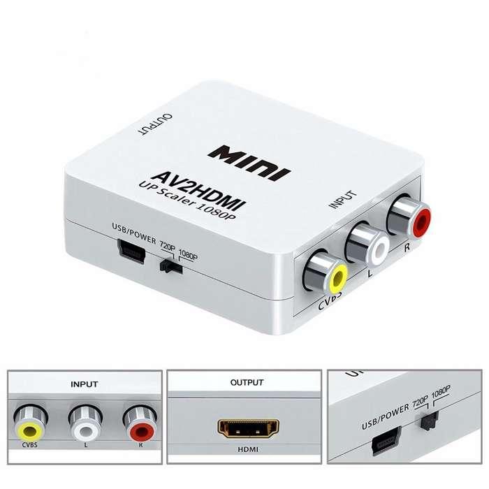 Conversor / convertidor / adaptador RCA AV a HDMI TECHNOZONE2.0