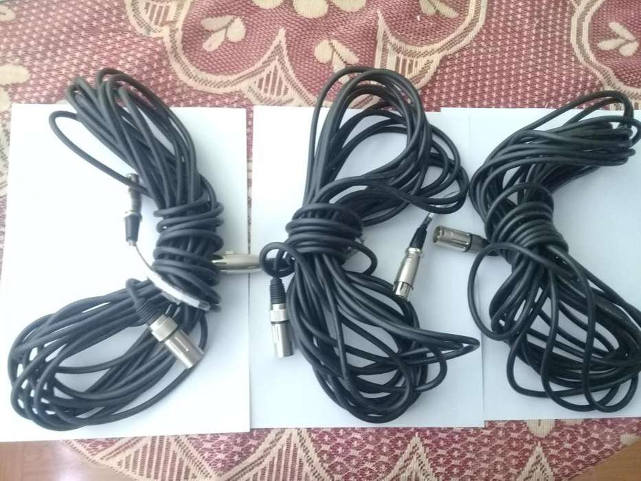 REMATO cables de microfono de 10m, entrada canon canon
