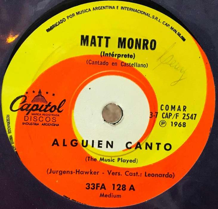 Simple de Matt Monro año 1968 cantado en castellano