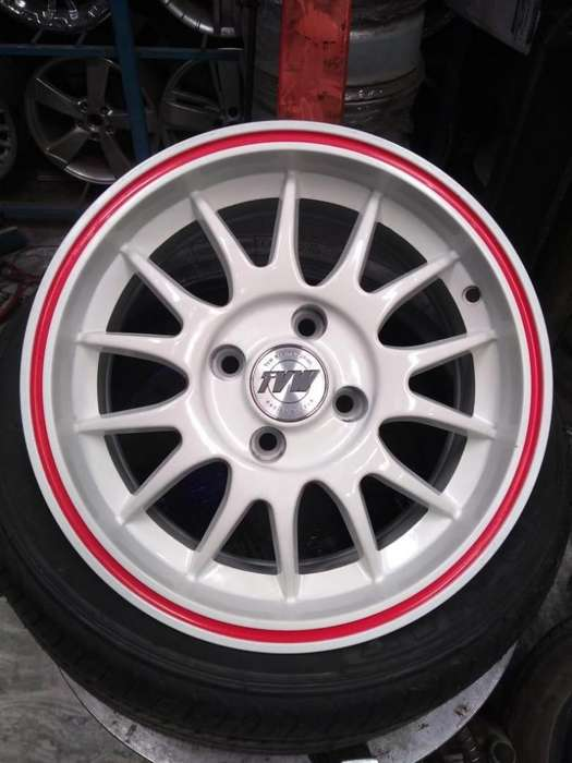 Llantas deportivas rodado 14 centro 4x100 ideal para Vw, Chevrolet y Renault